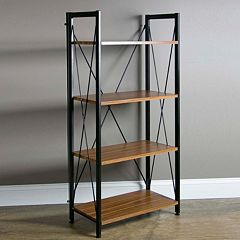 Baxton Studio New Semester 4-Shelf Bookshelf by
