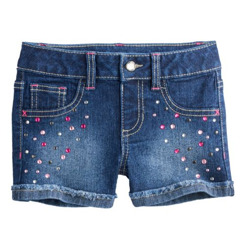 Girls 4-7 SONOMA Goods for Life™ Faded Rhinestone Denim Shorts
