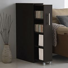 Baxton Studio Lindo Bookcase & Single Pull-Out Shelving Cabinet by