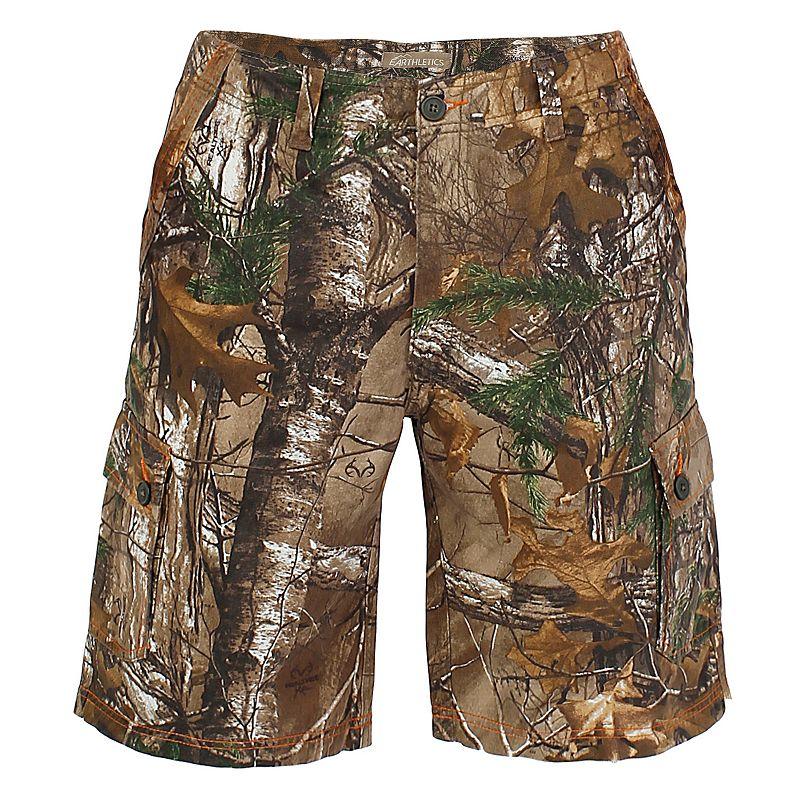 Men's Realtree Earthletics Modern-Fit Camo Twill Cargo Shorts