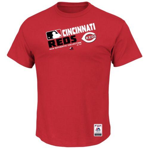 Big & Tall Majestic Cincinnati Reds AC Team Choice Tee