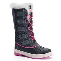 Totes Suri Girls' Water-Resistant Winter Duck Boots