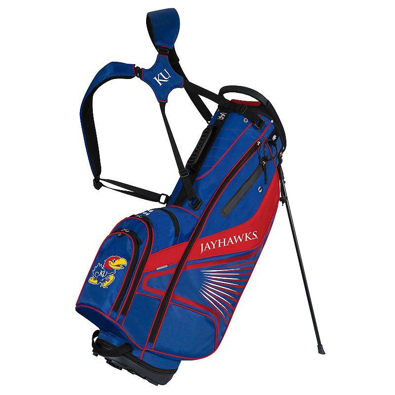 Team Effort Kansas Jayhawks Gridiron III Golf Stand Bag, Multi/None