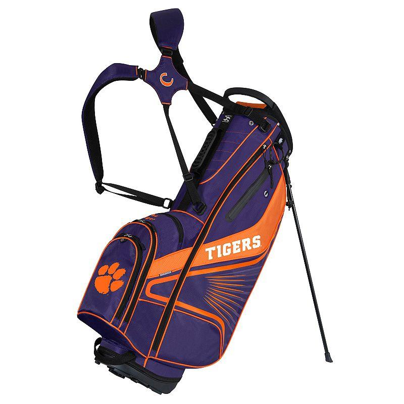 Team Effort Clemson Tigers Gridiron III Golf Stand Bag, Multi/None