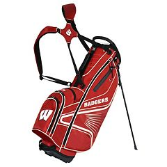 Click to buy Team Effort Wisconsin Badgers Gridiron III Golf Stand Bag .