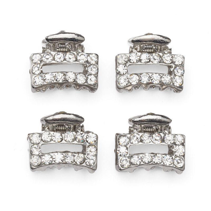 ELLE™ 4-pk. Rhinestone Jaw Hair Clip Set