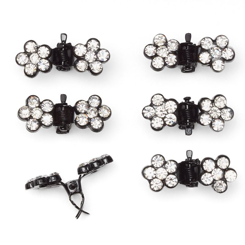 ELLE™ 6-pk. Mini Rhinestone Jaw Hair Clip Set