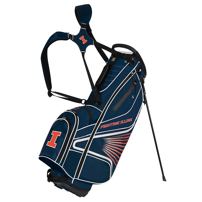 Team Effort Illinois Fighting Illini Gridiron III Golf Stand Bag