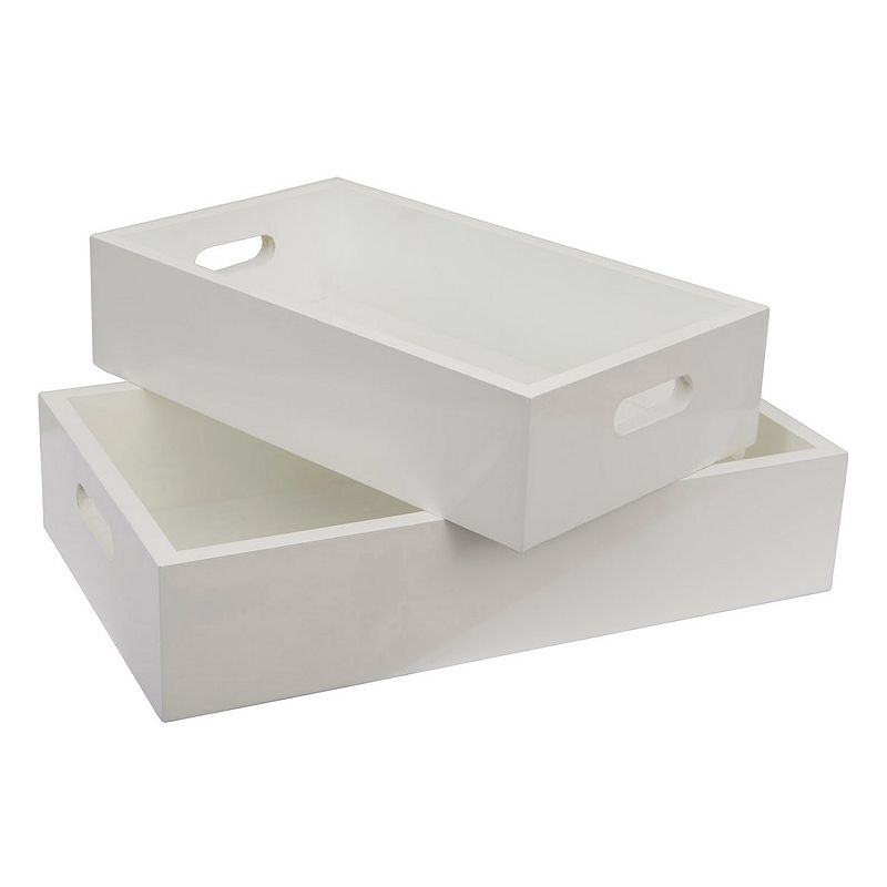 Decor Therapy Wood Tray 2-piece Set