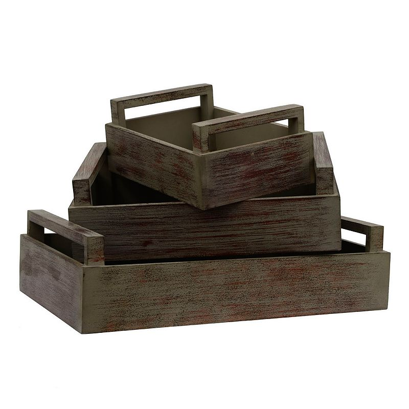 Decor Therapy Wood Tray 3-piece Set