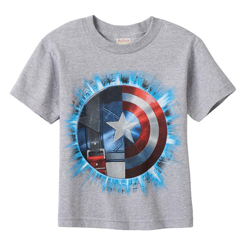 Boys 4-7 Marvel Captain America 75th Shield Tee