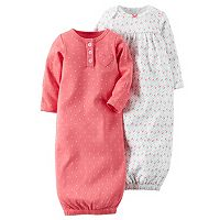 Baby Girl Carter's 2-pk. Heart & Petal Sleeper Gowns