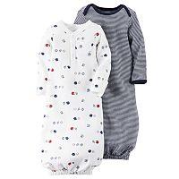Baby Boy Carter's 2-pk. Sporty & Striped Sleeper Gowns