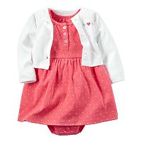 Baby Girl Carter's 2-pc. Heart Dress & Cardigan Set
