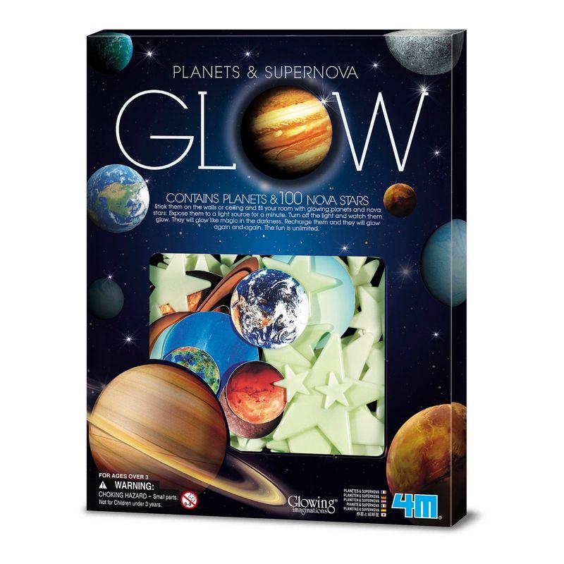 Toysmith 4M Glow-In-The-Dark Planets & Supernova Stars Foam Stick-Ons, Multicolor thumbnail