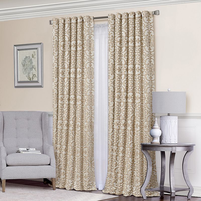 Vue Signature Lyric Lined Room Darkening Luxury Curtain