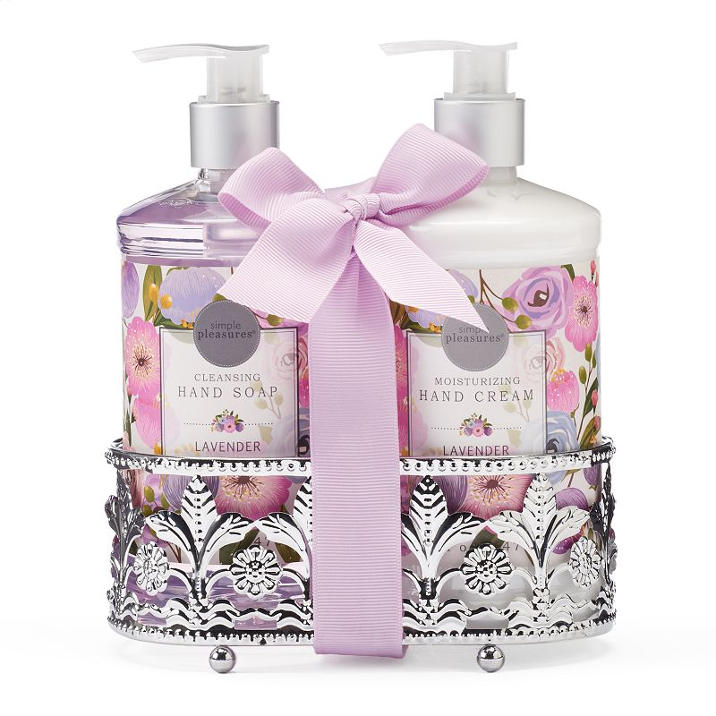 Simple Pleasures 2-pc. Lavender Hand Soap & Hand Cream Caddy Gift Set