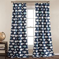 Half Moon 2-pack Kids Whale Curtains - 52'' x 84''
