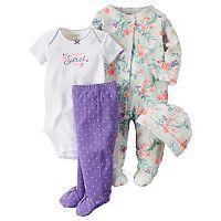 Baby Girl Carter's 4-pc. Floral Sleep & Play Set
