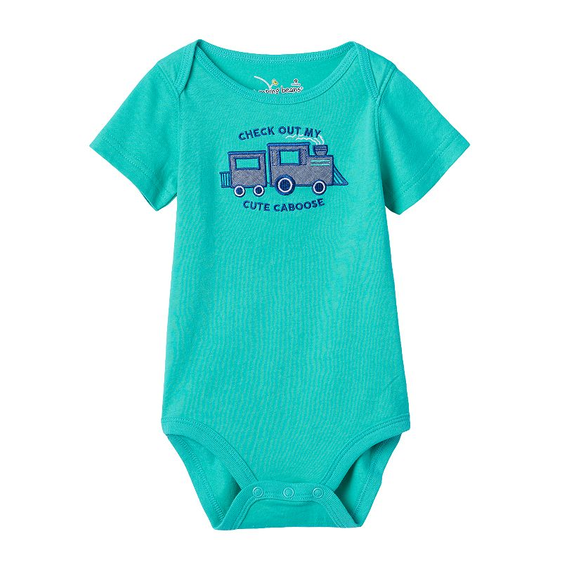 Baby Boy Jumping Beans® Envelope-Neck Applique Bodysuit