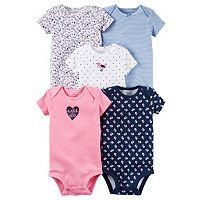Baby Girl Carter's 5-pk. Pattern Bodysuits