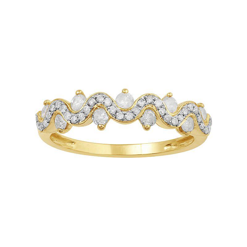 10k Gold 1/2 Carat T.W. Diamond Twist Ring