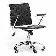 Baxton Studio Vittoria Leather Office Chair by