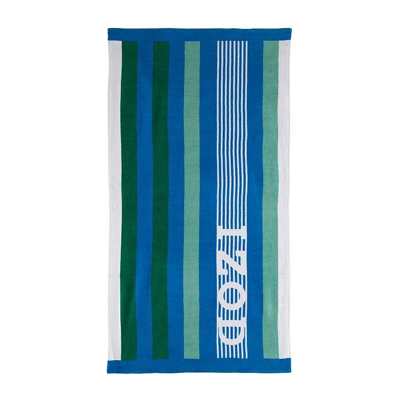 IZOD Racing Stripe Beach Towel