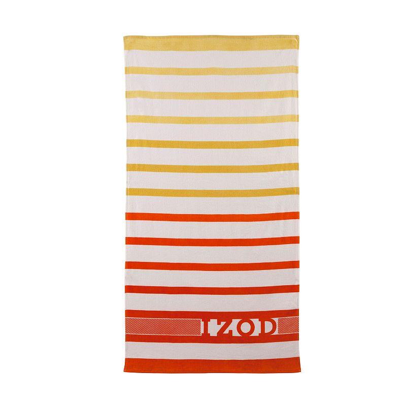 IZOD Ombre Stripe Beach Towel