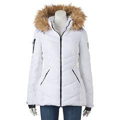 Juniors' Madden Girl Hooded Faux-Fur Puffer Jacket