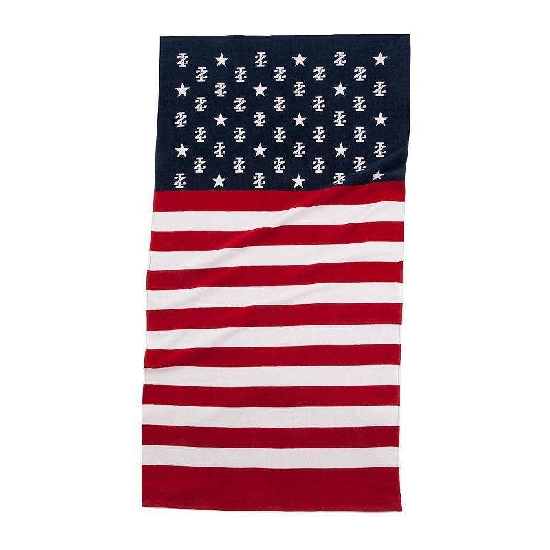IZOD Stars & Stripes Beach Towel
