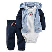 Baby Boy Carter's 3-pc. Colorblock Cardigan & Pants Set