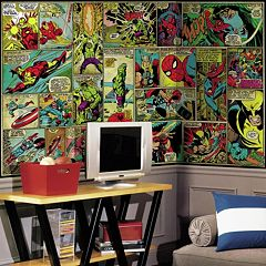 Marvel Classics Comic Panel Removable Wallpaper Mural by