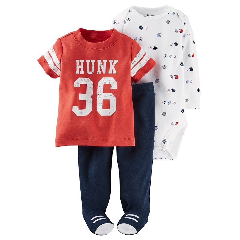Baby Boy Carter's 3-pc. Sporty Tee, Bodysuit & Pants Set