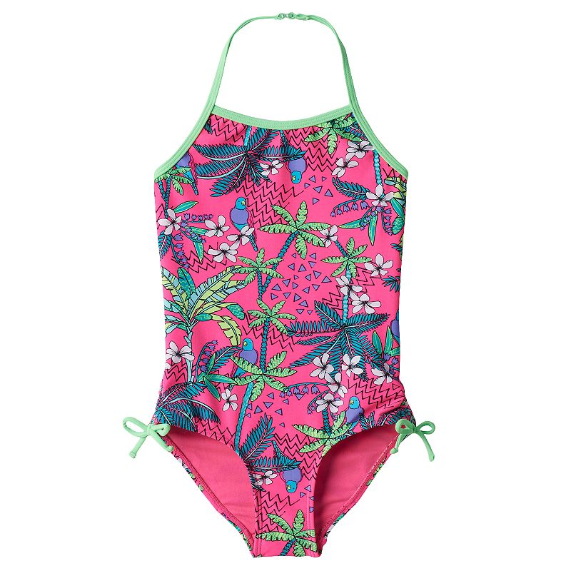 Girls 4-6 SO® Palm Tree One-Piece Swimsuit
