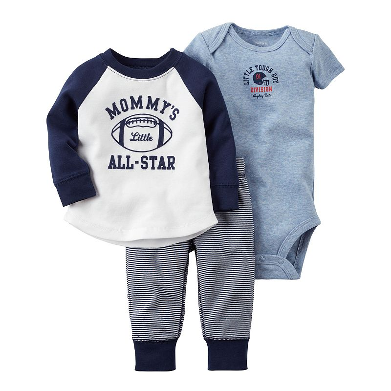 Baby Boy Carter's Sporty Tee, Bodysuit & Pants Set