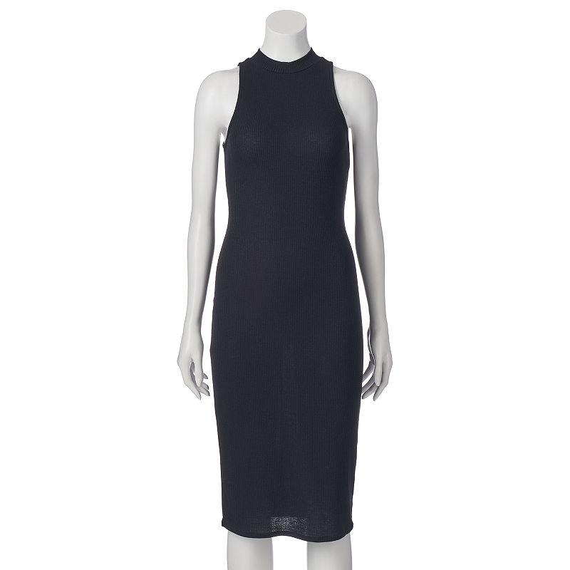 Juniors' Fire LA Mockneck Midi Dress
