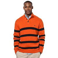 Men's Chaps Classic-Fit Striped Mockneck Twist Sweater