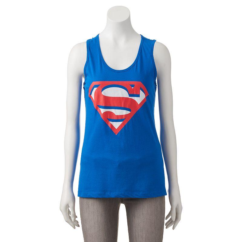 Juniors' DC Comics Superman Racerback Tank Top