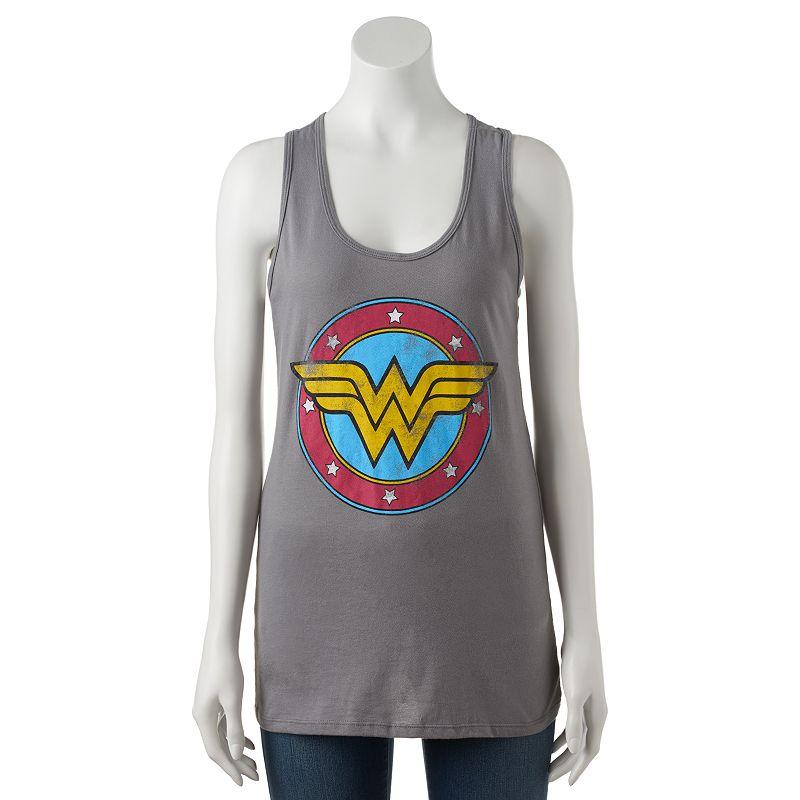 Juniors' DC Comics Wonder Woman Logo Graphic Racerback Tank Top