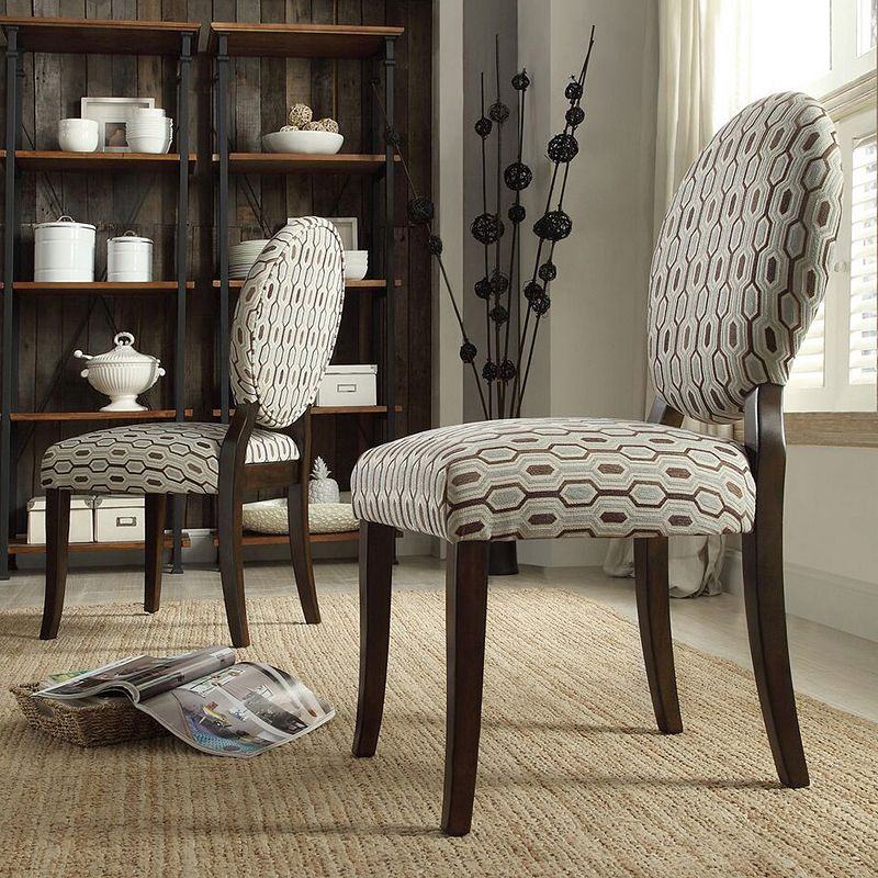HomeVance Randy Honeycomb Dining Chair 2-piece Set