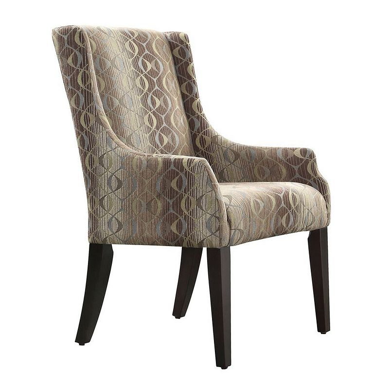 HomeVance Camille Oval Chain Sloped Arm Chair