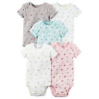 Baby Girl Carter's 5-pk. Floral Graphic Bodysuits