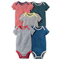 Baby Boy Carter's 5-pk. Striped Bodysuits