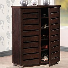 Baxton Studio Adalwin Wood Shoe Storage Entryway Cabinet by