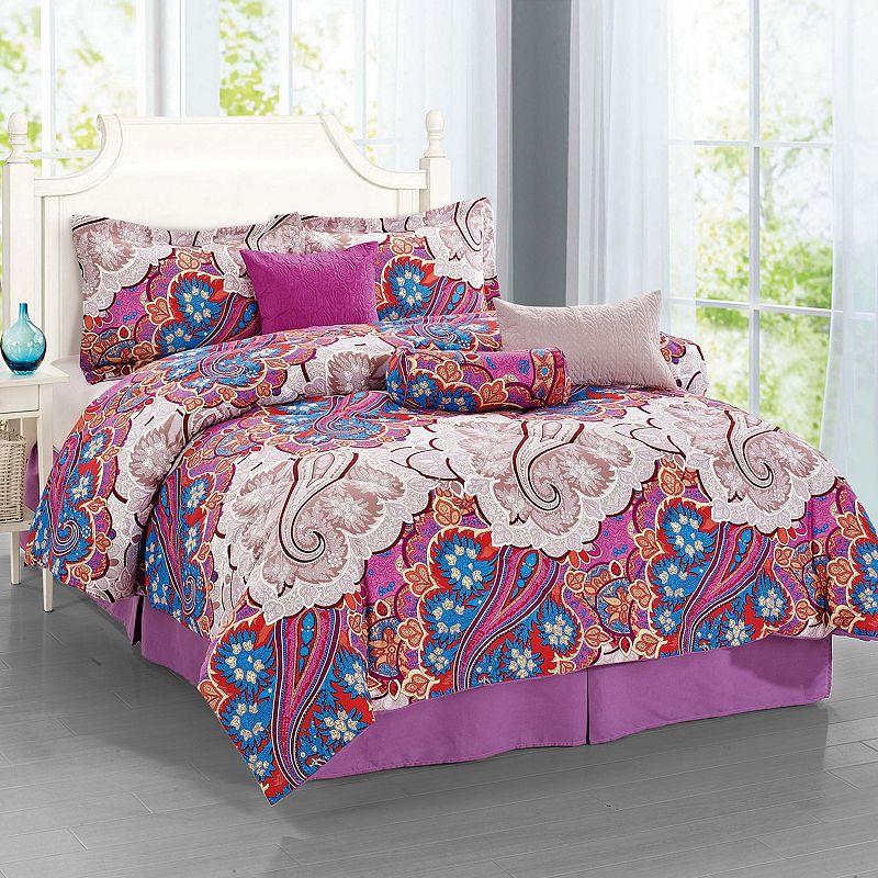 Journee Home Ornate 7-piece Bed Set