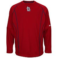Big & Tall Majestic St. Louis Cardinals Texture Fleece Pullover