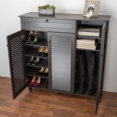 Click here to buy Baxton Studio Pocillo Shoe Storage Cabinet.