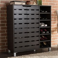 Baxton Studio Shirley Shoe Cabinet by