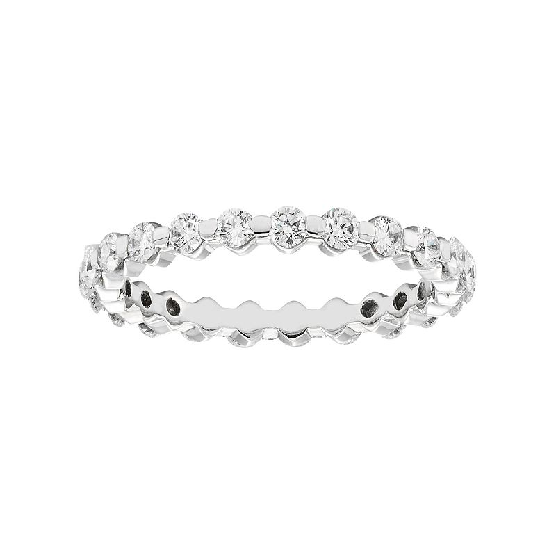 1 Carat T.W. IGI Certified Diamond 14k White Gold Eternity Ring